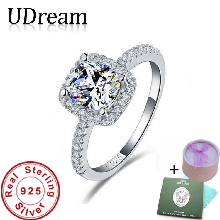 Real 925 Sterling Silver Ring CZ Diamond Zircon anel Engagement O Finger anel aneis de diamante for Women Jewelry 2015 new UR820(China (Mainland))