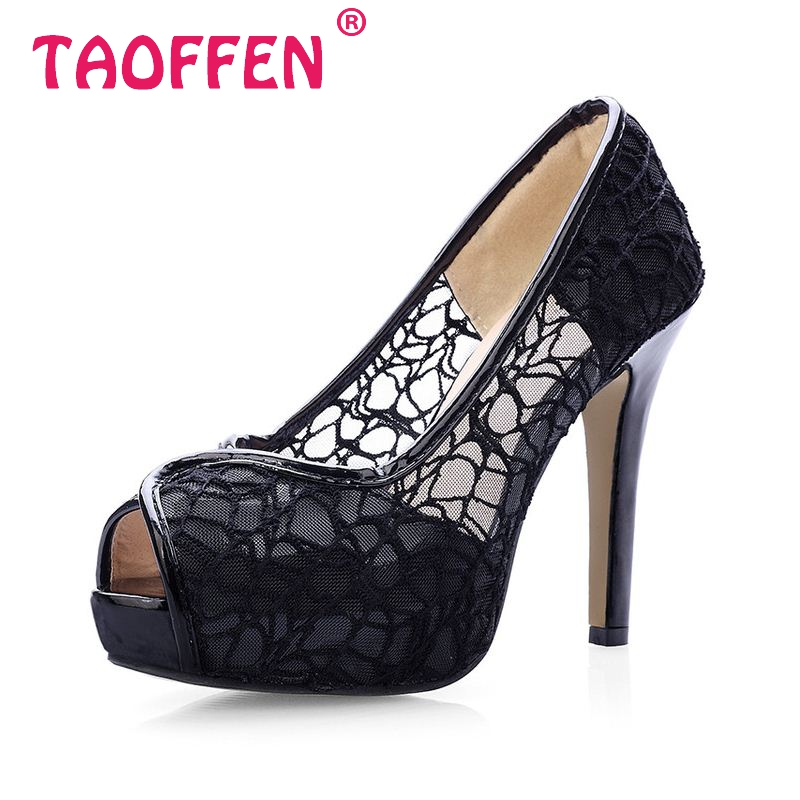Lace Summer Boots Party Fashion Shoes Woman Sexy Open Toe High Heels Platform Pumps Women High Heels Pumps Size 33-41 PA00473(China (Mainland))