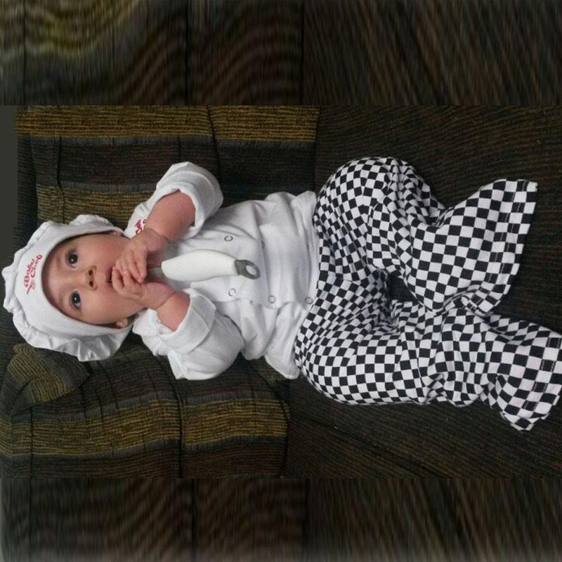 B b gar on fille cuire chef costume infantile b b v tements en coton ensemble chapeau top - Bebe gar kamer model ...