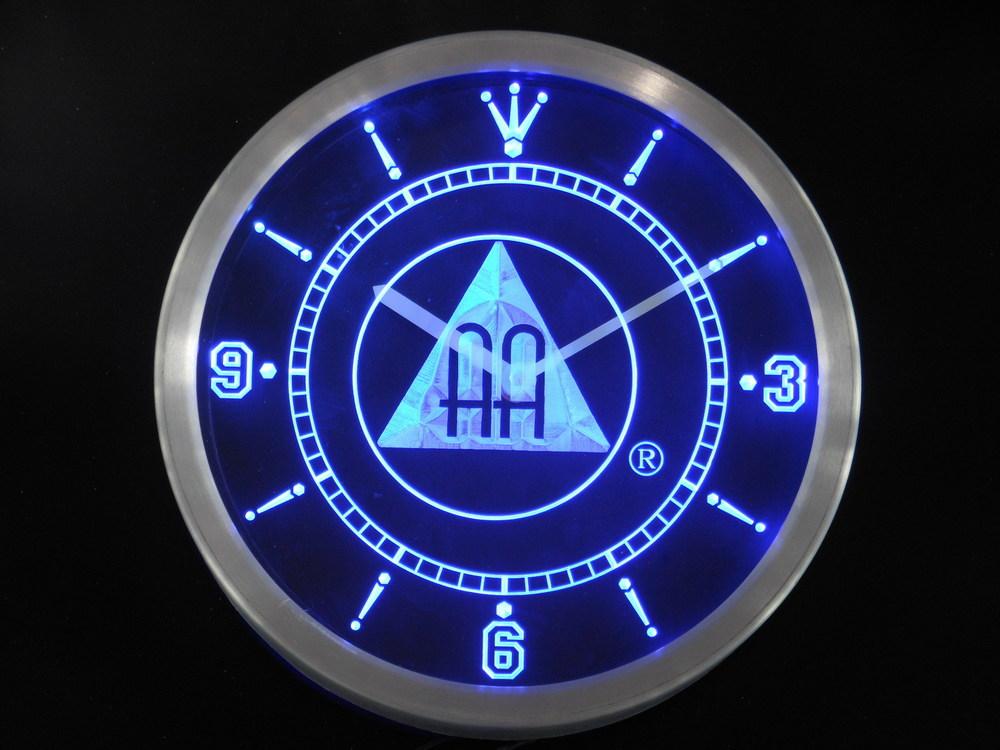 nc0134 Alcoholics Anonymous AA Neon Sign LED Wall Clock Wholesale Dropshipping(China (Mainland))