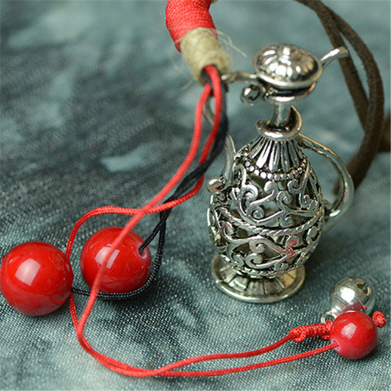 Necklaces For Women 2016 New Sweater Necklace Old Silver Flagon Pendant Vintage Fashion Jewelry Accessories Gift Wholesale XL86(China (Mainland))