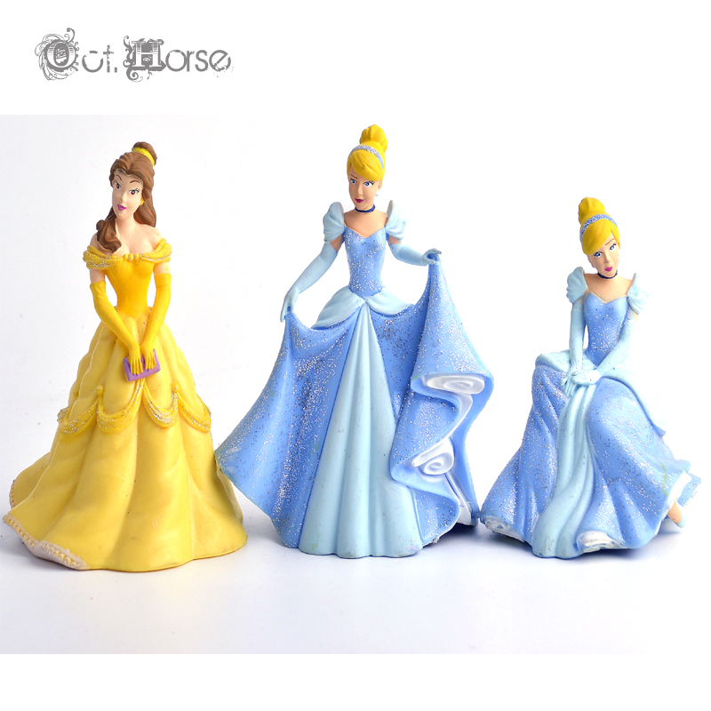 New PVC Cartoon Princess Model 3 style 9-10cm cute fashion best gift for children girl love Toys 077<br><br>Aliexpress