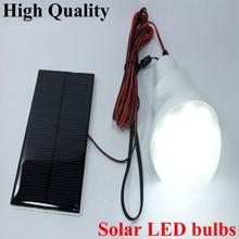 Wholesale! Factory 0.8W/5V solar power backup 750ma LED Bulb lamp outdoor lighting Green/Energy/Garden Light IP67 Watereproof