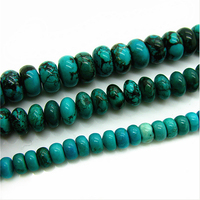 6/8/10mm Green Natural Turquoise Beads Rondelle Natural Stone ,Gem Stone Semi-precious Stone Jewelry Making Supplies HC793