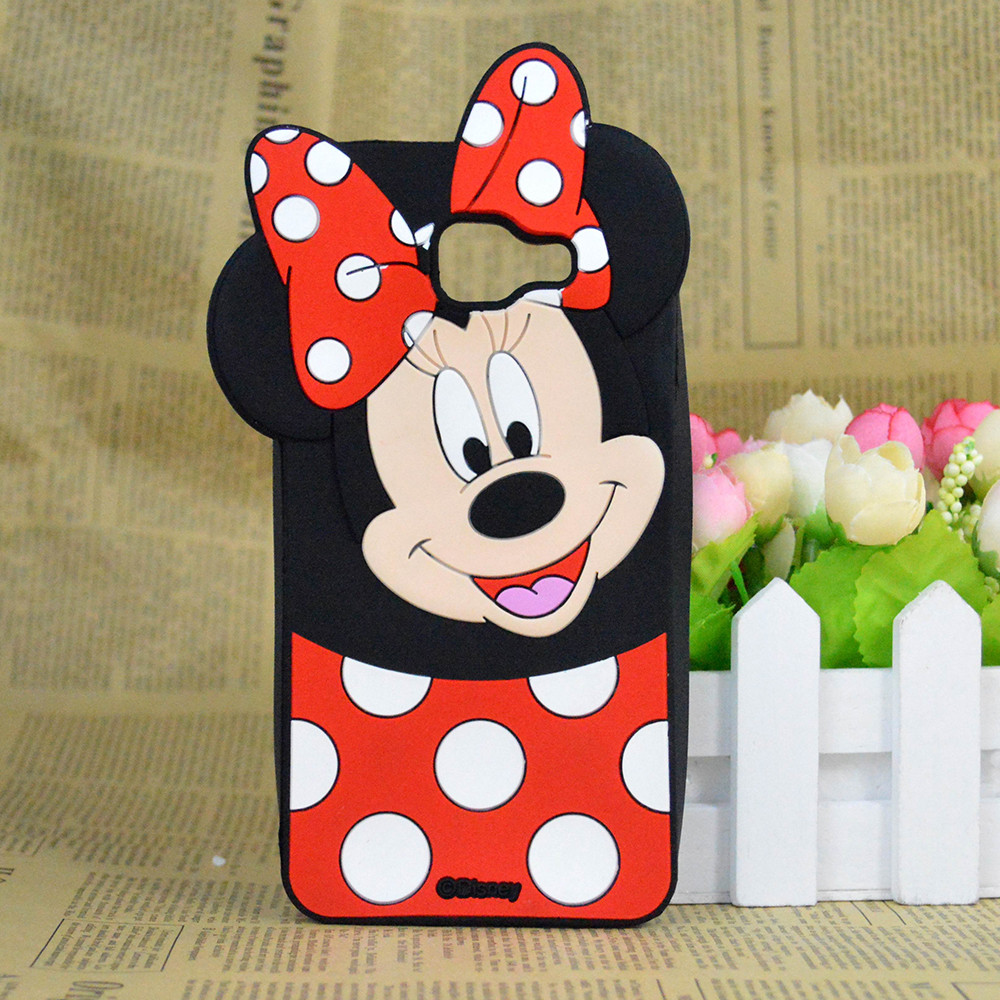 For Samsung Galaxy A7 (2016) A710F A710FD Cute 3D Cartoon Minnie Mickey Mouse Silicone Case Cover Minions capa funda hood(China (Mainland))