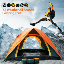 Top Brand Quality Double Layer 3 4 Person Rainproof Ourdoor Camping Tent for Hiking Fishing Hunting