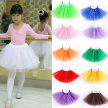 New 2015 Cute Baby Girls Tutu Ballet Toddler Kids Party Skirt Multi-colors Ball Gown
