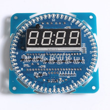 DS1302 Rotating LED Display Alarm Electronic Clock Module LED Temperature Display(China (Mainland))