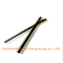 10pcs 40 Pin 1x40 Single Row Male 2.54 Breakable Pin Header Connector Strip for Arduino Black