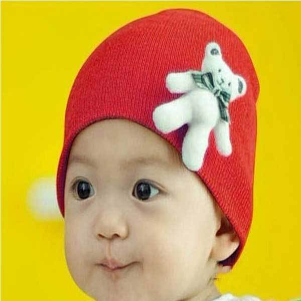 Craneford Cute Standing Bear Baby Cotton Hat Cartoon Infant Cap(China (Mainland))