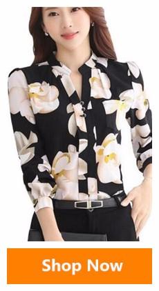 HTB1JG1aSVXXXXXTaXXXq6xXFXXX8 - Floral Print Chiffon Blouse Collar Short Sleeve Women