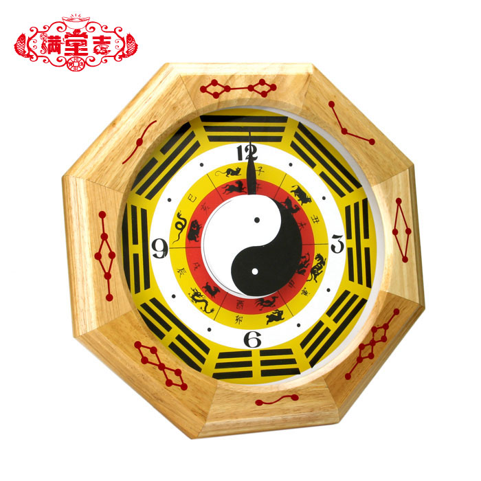 Wholesale Old antique rare crafts Cherry wood clock wall clock lucky evil spirits(China (Mainland))