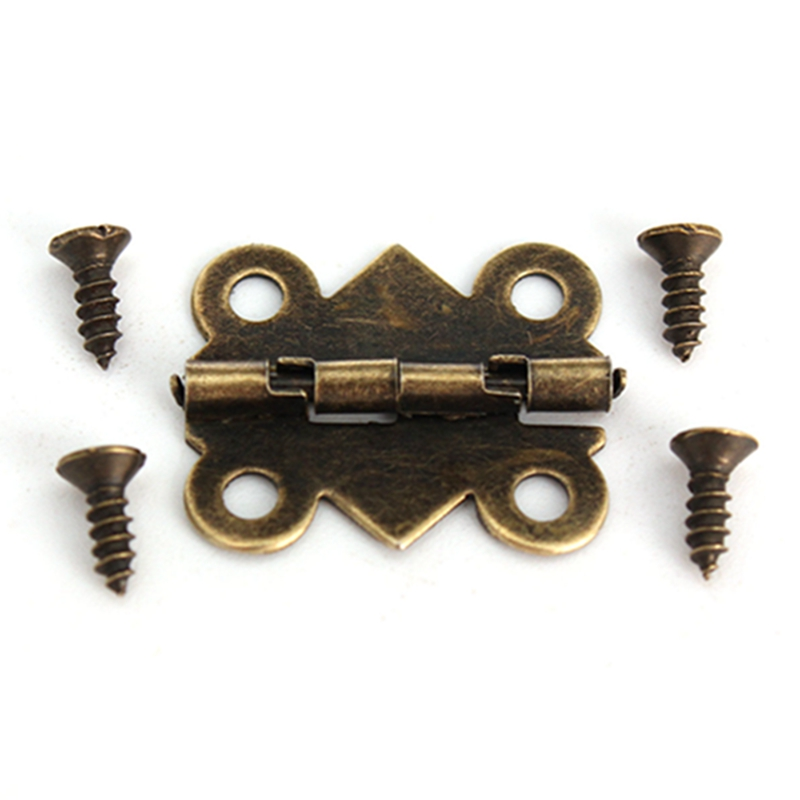 Special Design 10Pcs Cabinet Door Hinge 4 Holes Butterfly Bronze Tone 20mm x17mm Door Hinges Door Hardware(China (Mainland))