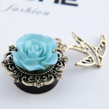 2015 Newest Designs High Quality 1 Pair Tragus Piercing Jewelry Pendant Bird Women Fashion Ear Plugs Sexy Ear Gauges Plugs