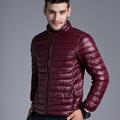 2017 Six colors casual men s cotton ultra thin breathable slim winter jacket men s light