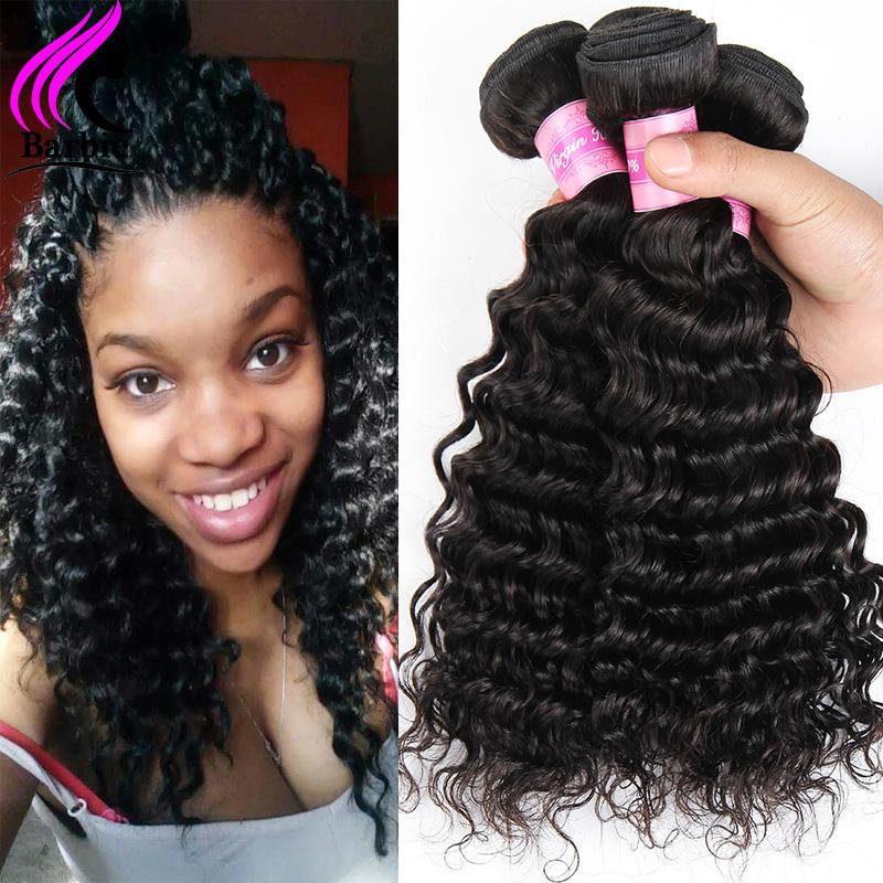 Peruvian Virgin Hair Deep Wave 3 Bundles Peruvian Deep Wave Human Hair Bundles Weave Peruvian Deep Curly Rosa Hair Products #2