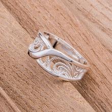 Округлые полые блестящие оптовая продажа посеребренные кольцо 925 мода ювелирные изделия серебряное кольцо MLOFNXAC(China (Mainland))