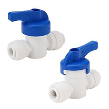 """2pcs / lot dn 8 1/4"""" equal straight od tube ball valve quick connect fitting  ro water system(China (Mainland))"""
