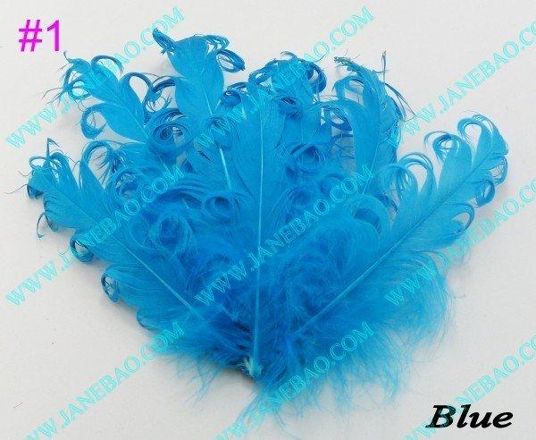 free shipping 500pcs mix color fashion curly goose feather pads curly goose feathers nagorie feather pads(China (Mainland))