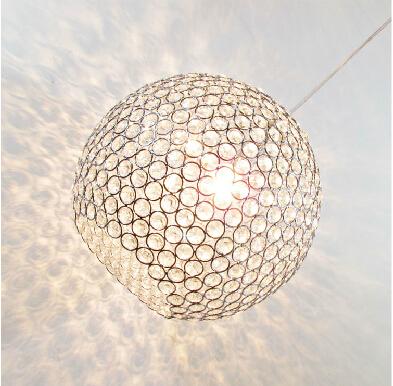 Modern Brief Lustres Crystal Chandelier round ball shape crystal pendant lamp haning fixture lighting luminiare<br><br>Aliexpress