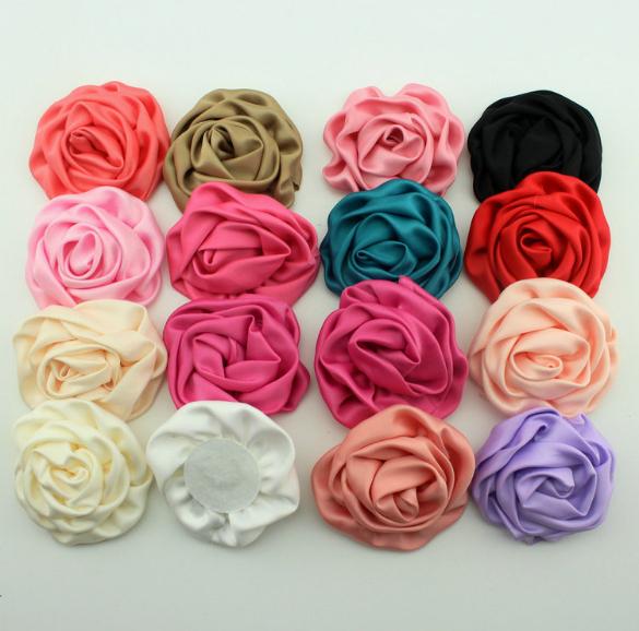 """Aliexpress.com: Comprar 2.8 """" alta calidad flores de tela de gasa ..."""