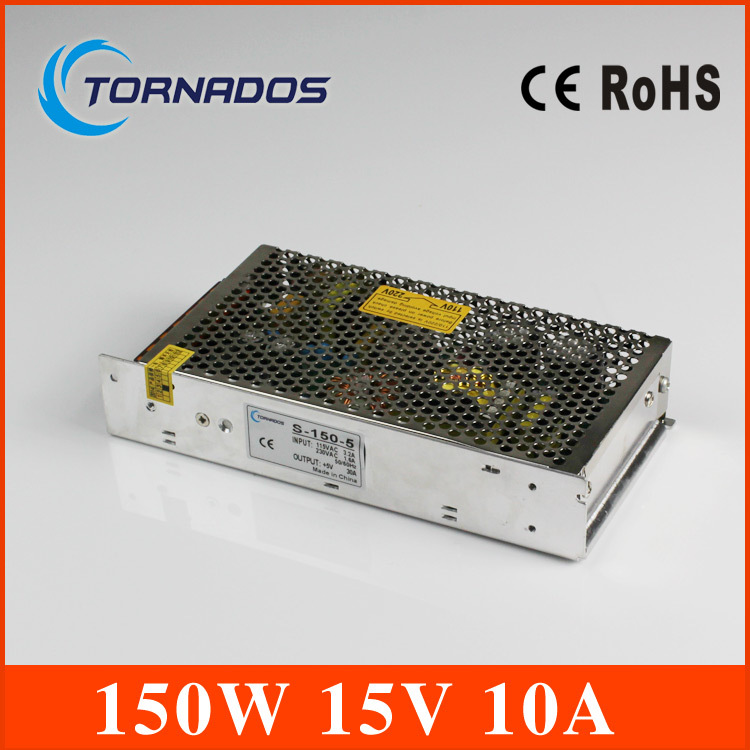 power supply 15v 150w 15v 10A power suply 150w 15v led power supply unit ac dc converter S-150-15(China (Mainland))