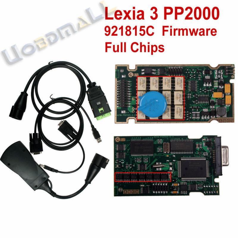 PP2000 V25 Lexia3 Lexia-3 V48 Diagbox 7.65 Serial 921815C With Original Full Chip Lexia 3 PP2000 Citroen Peugeot Diagnostic Tool(China (Mainland))