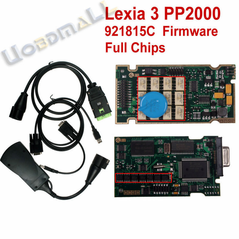 PP2000 V25 Lexia3 Lexia-3 V48 Diagbox 7.66 Serial 921815C With Original Full Chip Lexia 3 PP2000 Citroen Peugeot Diagnostic Tool(China (Mainland))