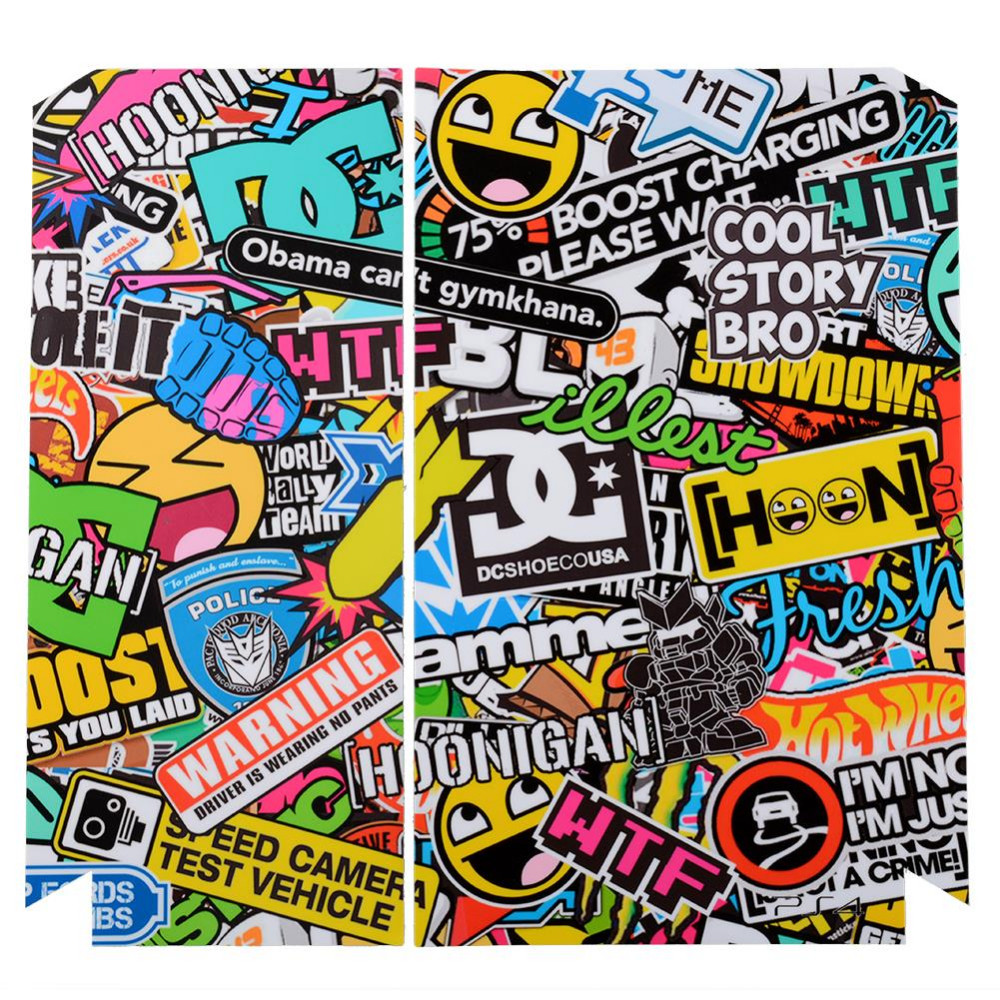 image for Fashion BOMB Bombing Graffiti Sticker For Sony For PS4 Playstation 4 C