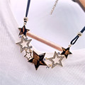 Free shipping Wholesale lady Imitation diomands rhinestone acrylic choker crystal star butterfly leather chain necklace elegant