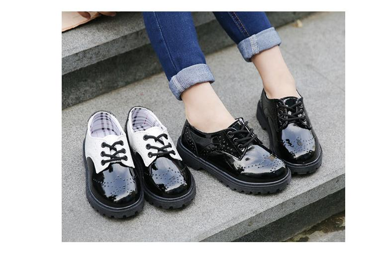0b199f1c95f4f Toddler girl boots children s kids patent leather boots boys single  princess spring autumn chaussure led enfant 362 - us301