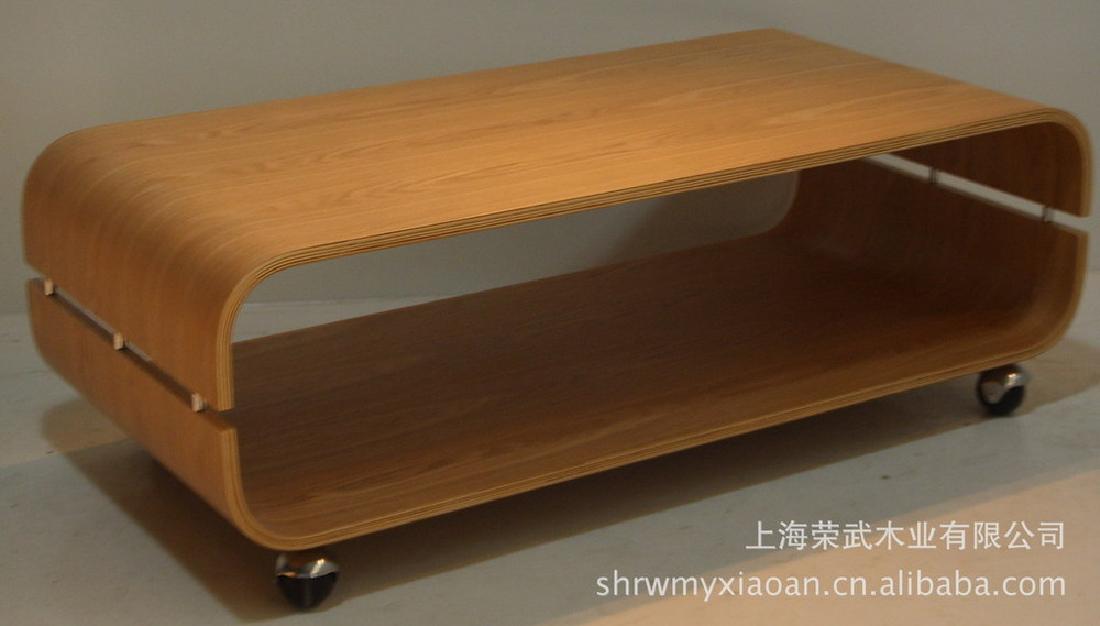U Bend Wood Coffee Table Curved Soft Fine Texture In Coffee Tables From Furniture On