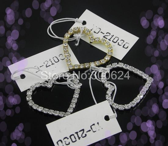 10 29*27mm Fancy Heart Shape Decorative Buckle Without Slider Fit Stick Wedding Card Customized - Jinhua Yiya Jewelry Co., Ltd. store