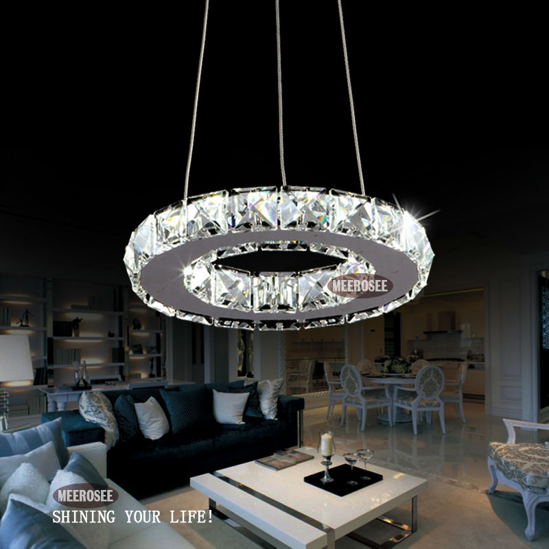 Modern LED Ring Lamp Light Fixture Crytsal Office Lighting LED Chandeliers Diameter 200mm Cool white Small Round Chandelier(China (Mainland))