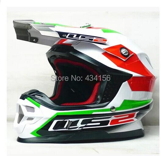 LS2 mx456 профессиональный Мотокросс шлем с подушка шлем dot сертификация