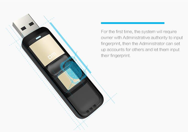 ถูก จัดส่งฟรีDM PD061 32กิกะไบต์ความเร็วสูงจดจำลายนิ้วมือเข้ารหัสไดรฟ์ปากกาการรักษาความปลอดภัยหน่วยความจำUSBติด