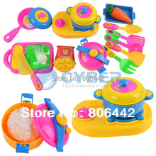 17Pcs Play House Toys Baby Children Tableware Kitchen Toy Set Early Educational Tool 50(China (Mainland))
