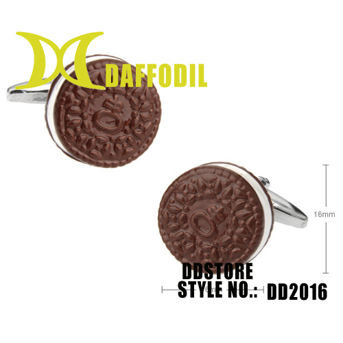 DDstore wholsale cufflinks accept custom made novelty cuff link for French cuff shirts color chocolate DD2016(China (Mainland))