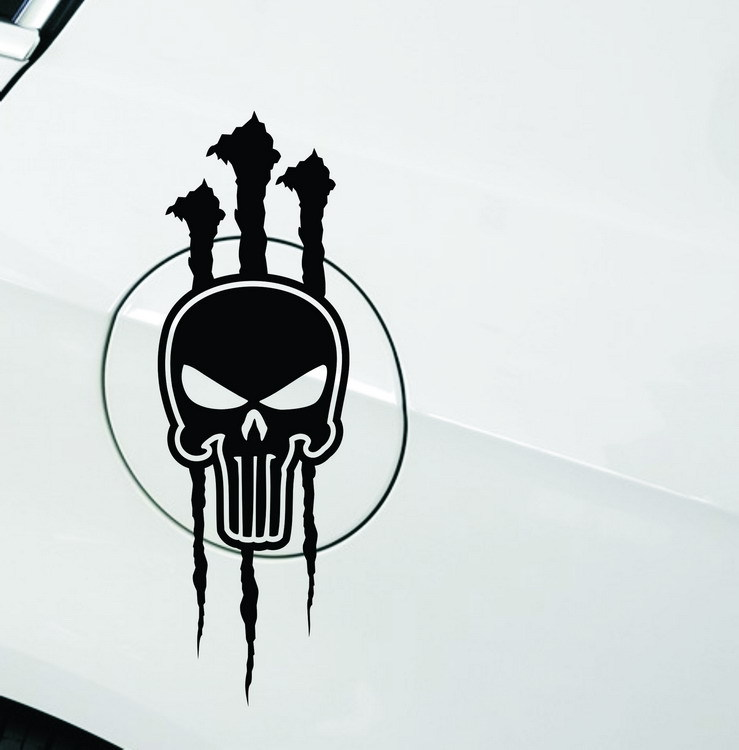 Cars ghost skull sticker demon claws scratches personalized car stickers car stickers devil mailbox(China (Mainland))