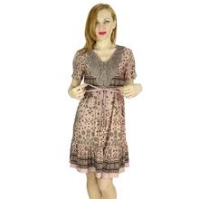 Women Casual Dress 2016 Women Summer Dress New Lady V-neck Short-Sleeved Waist Plus Size L-5XL Dresses Free Shipping 7-2154(China (Mainland))