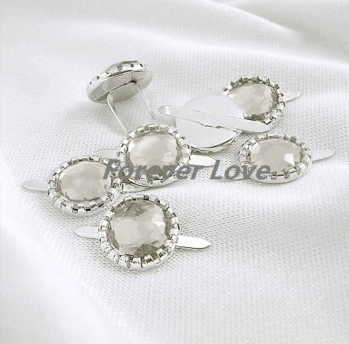 FREE SHIPPING -- WHITE 50PCS NEW Diamante Brad Wedding Stationary Favor Craft