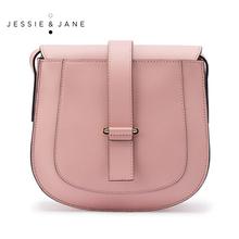 Jessie Jane Women Bags Designer Brand Vintage Saddle Leather Messenger Bags