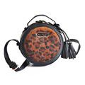 2016 Korean Famous Brand Leopard Tassel Leather Women Messenger Bags Horse Hair High Quality Mini Round