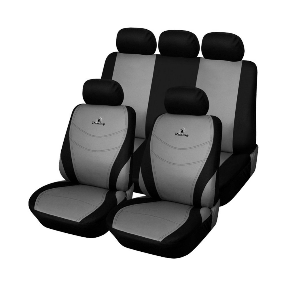 AUTOYOUTH Hot Sale Universal Car Seat Covers Set Cover Embroidery Design Car Seat Interior Accessories Colour Gray Blue Red(China (Mainland))