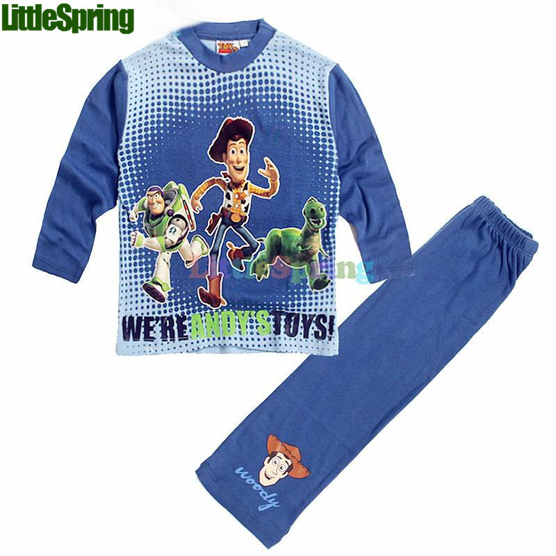 LittleSpring Original Kids Sets Great Pacakge Toy story 3 kids pajamas children sleepwear Pyjamas cartoon night suit clothes set(China (Mainland))
