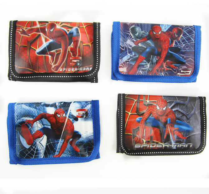 CM459 best boy's birthday gifts cartoon spider man purse children kids cards bag key bag fashion coins bag Wallet Coin Purse(China (Mainland))