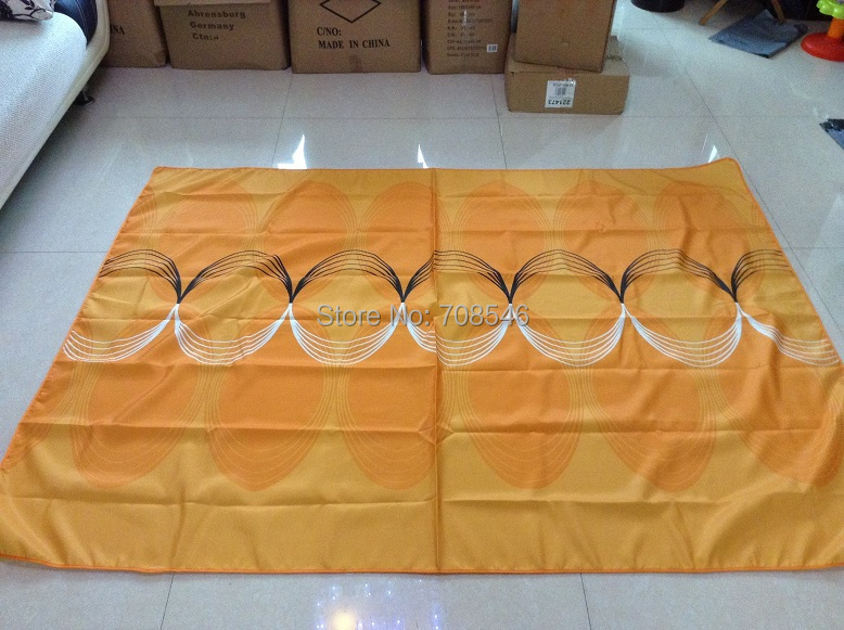 Orange waves Table Cloth,150x200cm rectangle table cover Home textile tablecloth water proof christmas(China (Mainland))