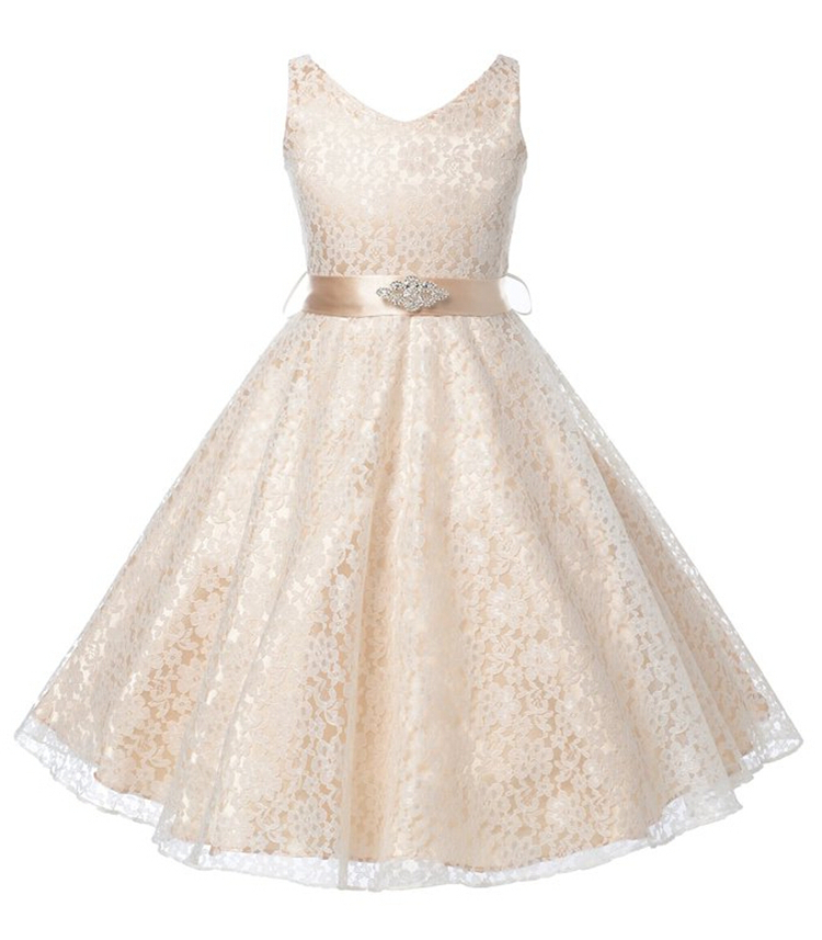 2016 Summer New Arrival Kids Clothes Girls Clothing Flowers Lace Wedding Party Dresses Quality Children Princess Dress 6-12Years(China (Mainland))