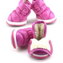 Moda de Invierno de La Colmena Suave Cuero de LA PU Para Mascotas Perros Pequeños Botines Botas Zapatos de la Nieve(China (Mainland))