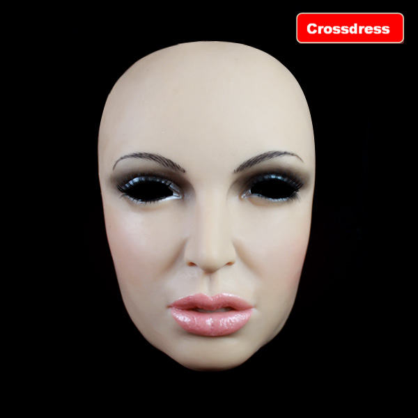 FH-8 2016 New crossdresser form silicone mask realistic masquerade latex female masks adult transvestites game - Royal Material Technology Co., Ltd store
